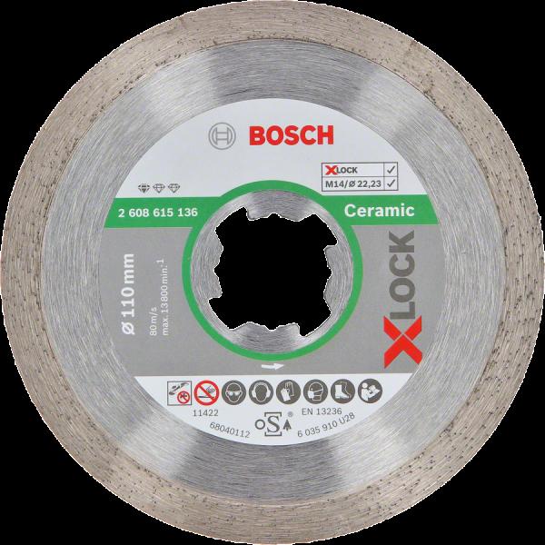 BOSCH Diamanttrennscheiben Standard for Ceramic X-LOCK