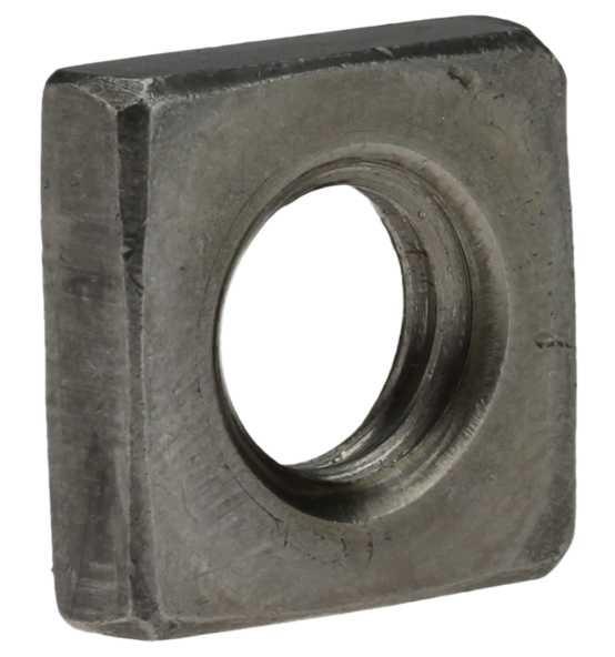 Vierkantmuttern DIN 562 Stahl Blank