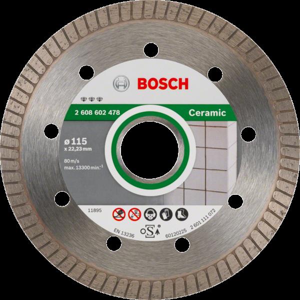 BOSCH Diamant-Trennscheibe Best for Ceramic Extra-Clean Turbo