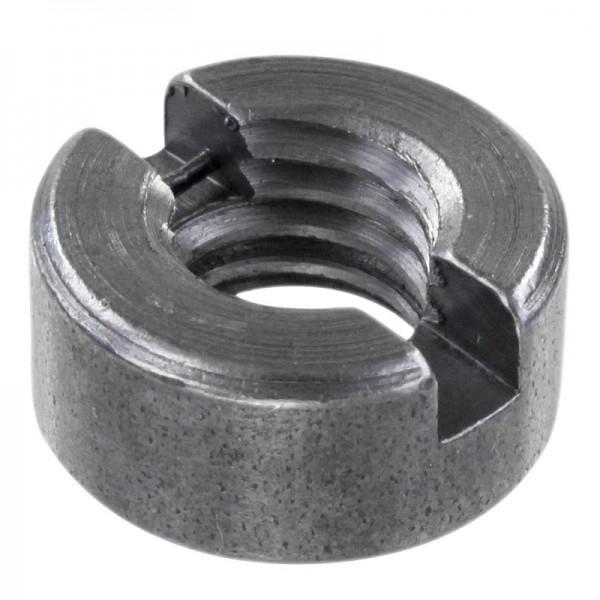 Schlitzmuttern DIN 546 Stahl Blank