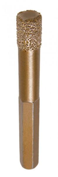 Selbstkühlender Diamantbohrer mit Sechskant-Aufnahme