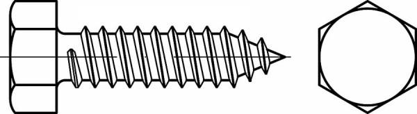 Sechskant-Blechschraube DIN 7976 Form C