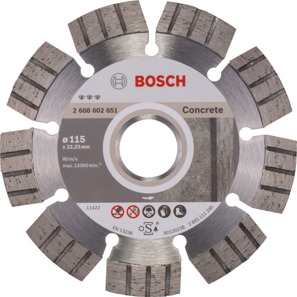 Bosch Diamanttrennscheibe Best for Concrete