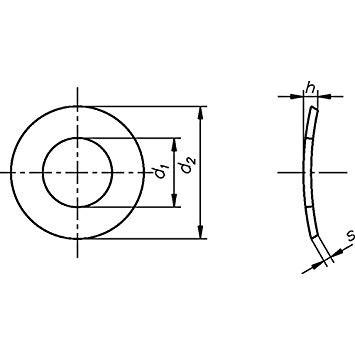 Federscheibe DIN 137 Form A